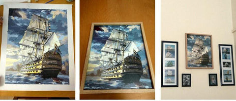 Paint by Numbers - Sailing Ship - Floating Styles - Diamond Embroidery - Paint With Diamond