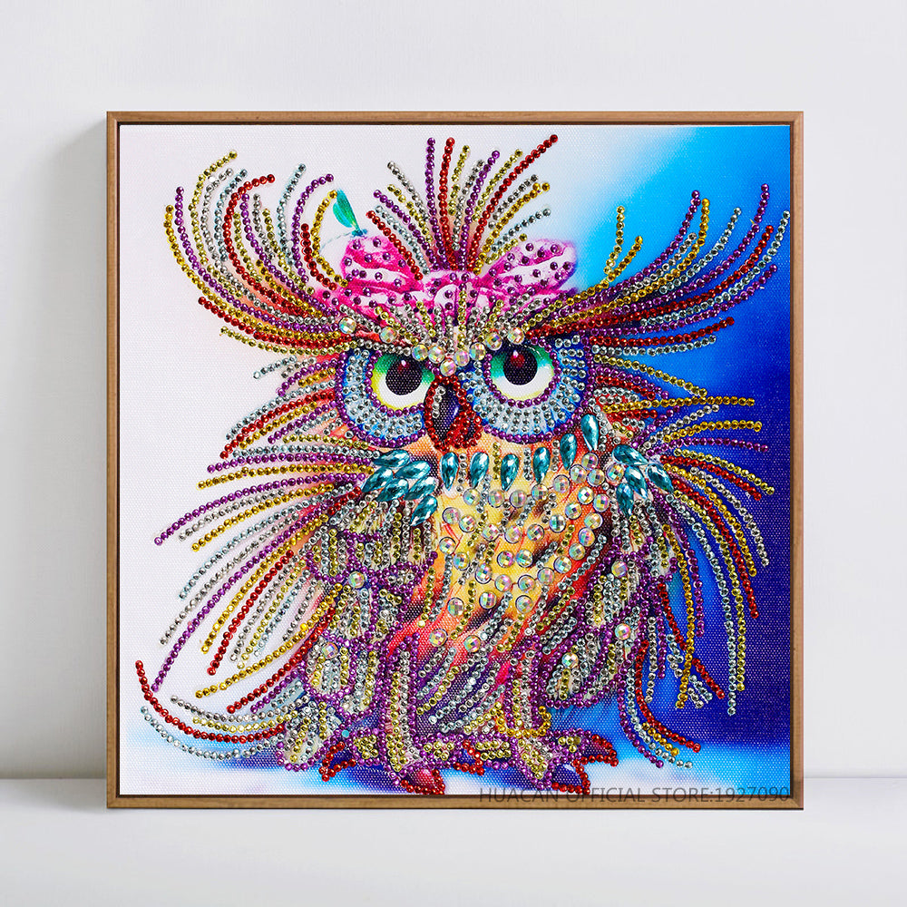 Bedazzled Diamond Painting - Owl Captain - Floating Styles - Diamond Embroidery - Paint With Diamond