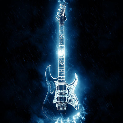 Bild der Diamantmalerei - Eletric Guitar Soul - Floating Styles - Diamantstickerei - Malen mit Diamant