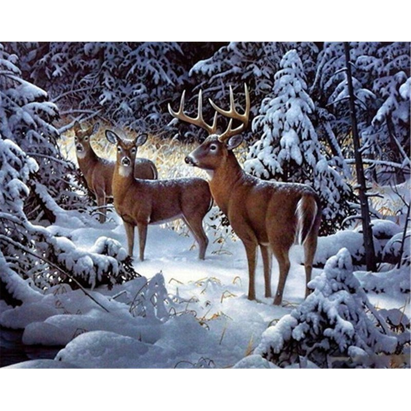 Pintura Diamante - Snow Deer