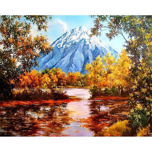 Diamond Painting - Late Autumn Forest - Floating Styles - Diamond Embroidery - Paint With Diamond
