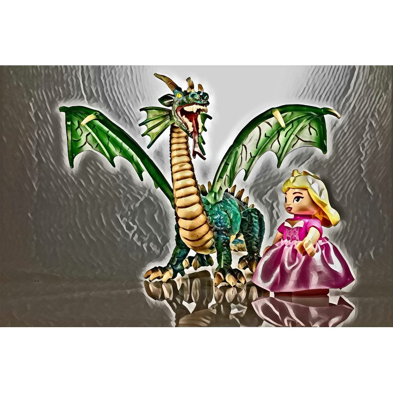 Diamond Painting - Dragon And Girl - Floating Styles - Diamond Embroidery - Paint With Diamond
