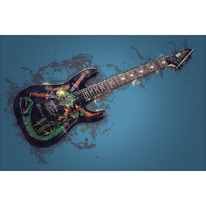 Diamantmaleri - Skull Eletric Guitar