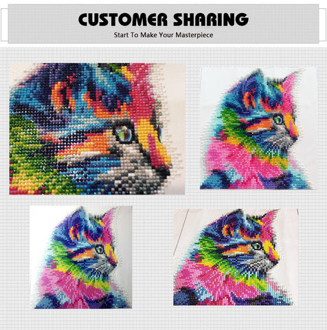 Diamond Painting - Aurora Cat - Floating Styles - Diamond Embroidery - Paint With Diamond