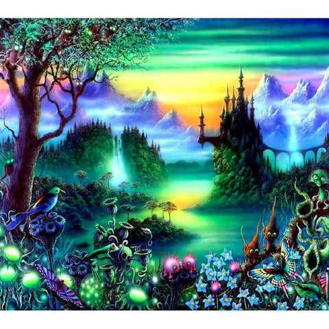 Image de peinture de diamants - Fantasy Wonder Land - Styles flottants - Broderie de diamants - Peindre avec un diamant