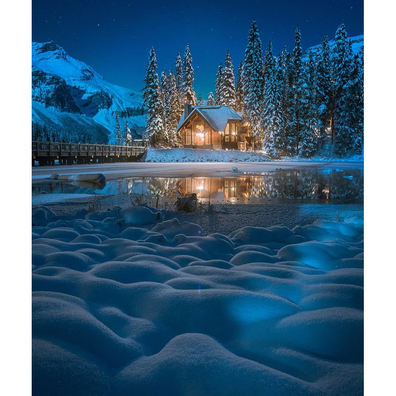 Diamond Painting - Winter Night - Floating Styles - Diamond Embroidery - Paint With Diamond