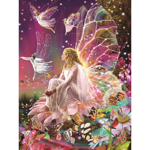 Image of Diamond Painting - Pink Fairy Dance - Floating Styles - Diamond Embroidery - Paint With Diamond