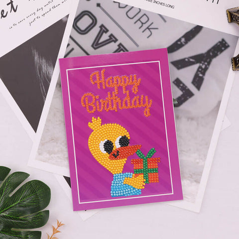 Image of Diamond Painting Greeting Card - Happy Brithday - A01