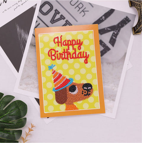 Afbeelding van Diamond Painting Greeting Card - Happy Brithday - A03