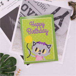 Diamond Painting Greeting Card - Happy Brithday - A04
