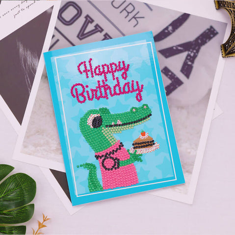 Kuva Diamond Painting -kortista - Happy Brithday - Card Set A