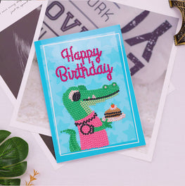Diamond Painting Greeting Card - Happy Brithday - A05