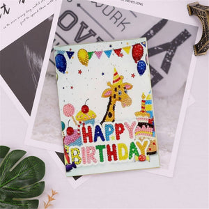 Diamond Painting Greeting Card - Happy Brithday - B01