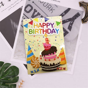 Diamond Painting Greeting Card - Happy Brithday - B02
