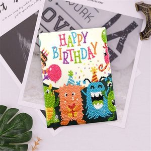 Diamond Painting Greeting Card - Happy Brithday - B03