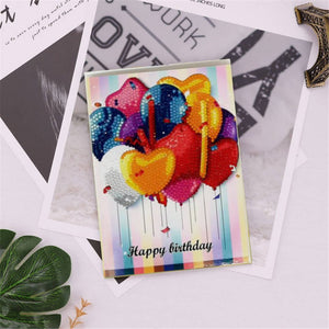 Diamond Painting Greeting Card - Happy Brithday - B04