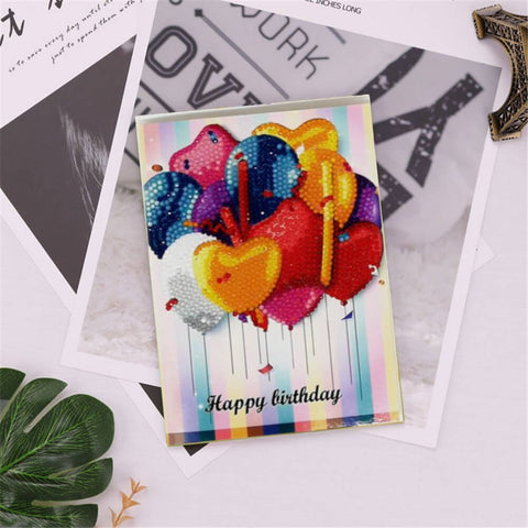 Diamond Painting -kortti - Happy Brithday - B04