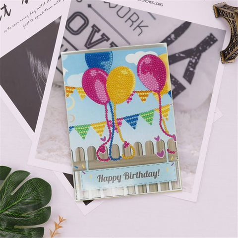 Diamond Painting Greeting Card - Happy Brithday - B06