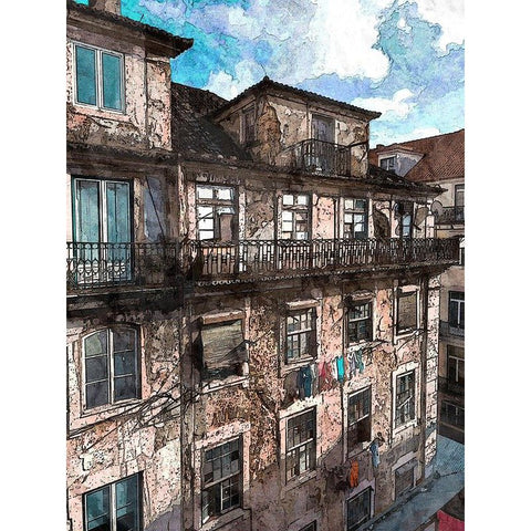 Íomhá de Diamond Painting - Old Facade