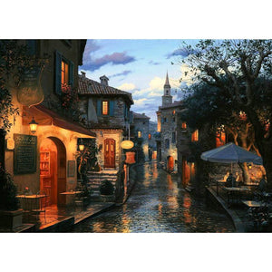 Diamond Painting - Quiet Street - Floating Styles - Diamond Embroidery - Paint With Diamond