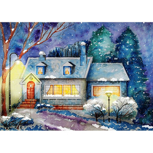 Diamond Painting - Snow and My House
