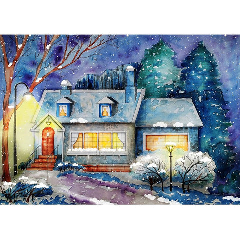 Afbeelding van Diamond Painting - Snow and My House