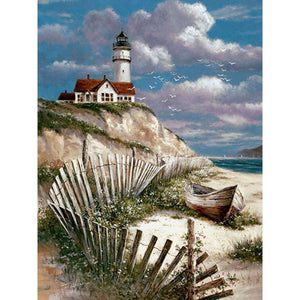 Diamond Painting - Lighthouse - 27 - Drijvende stijlen - Diamond Embroidery - Paint With Diamond