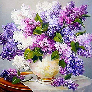 Diamantmaleri - Lilac arrangement