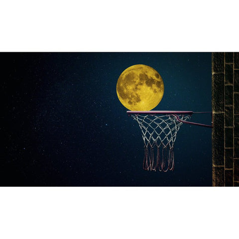 Bild der Diamantmalerei - Moon Backetball