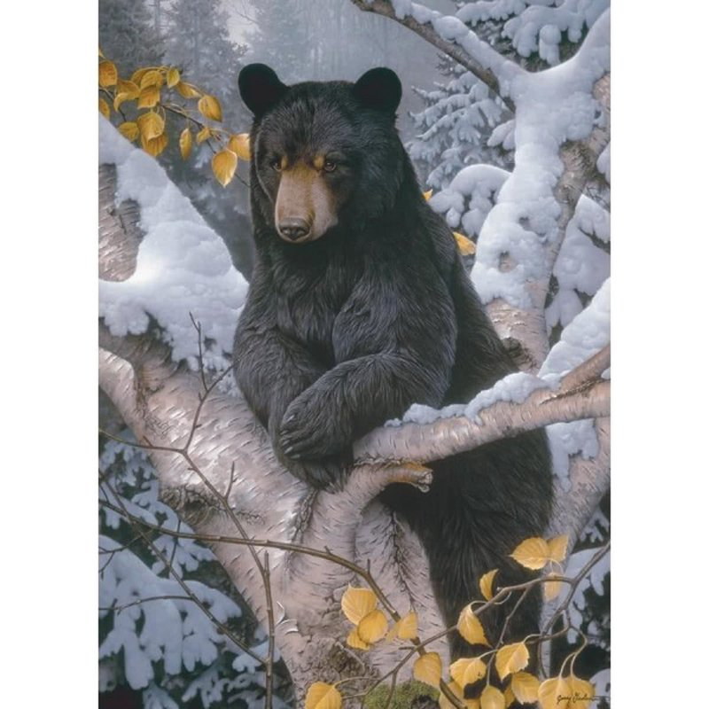 Diamond Painting - Late Autumn Bear - Floating Styles - Diamond Embroidery - Paint With Diamond