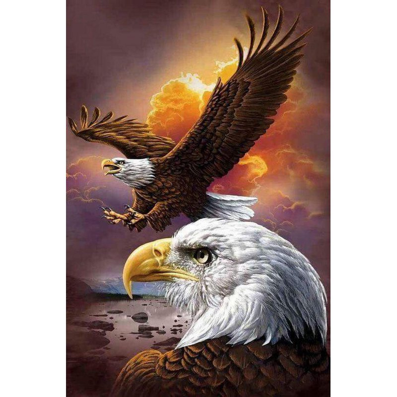 Diamond Painting - The Spirit Eagle - Floating Styles - Diamond Embroidery - Paint With Diamond