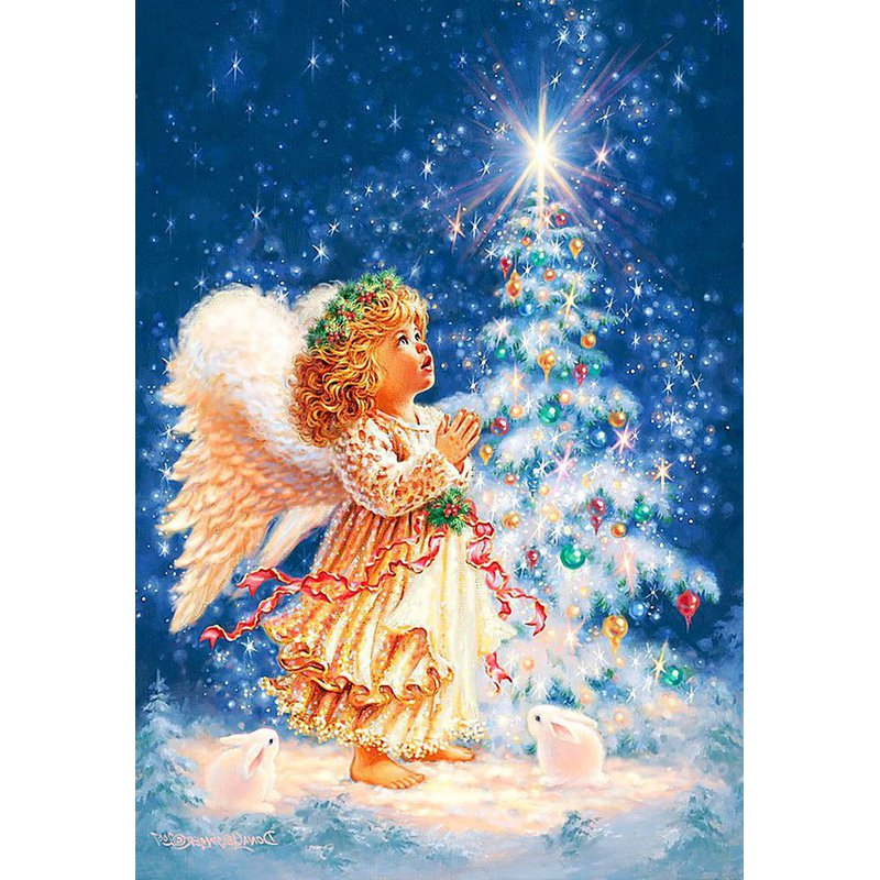 Diamond Painting - Little Christmas Angel - Floating Styles - Diamond Embroidery - Paint With Diamond