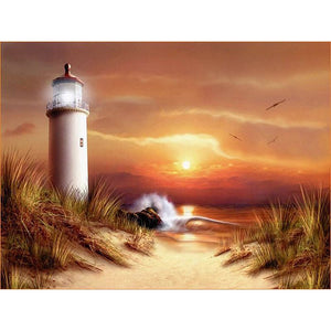 Diamond Painting - Lighthouse - 28 - Drijvende stijlen - Diamond Embroidery - Paint With Diamond