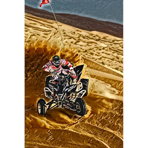 Diamond Painting - ATV on the sand - Floating Styles - Diamond Embroidery - Paint With Diamond