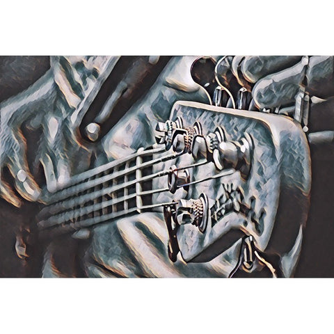 Imagem da pintura do diamante - na guitarra de Eletric (arte de FloatingStyle)