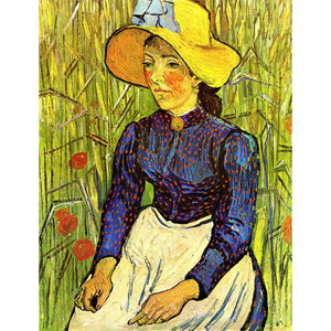 Diamond Painting - Van Gogh - Young Peasant Woman With Straw Hat