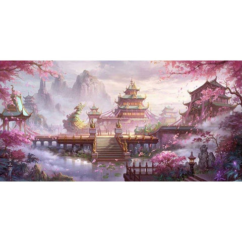 Diamond Painting - Tranditional Chinese Building