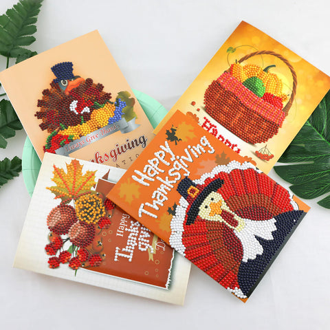 Image de Thanksgiving Diamond Painting Set de cartes de vœux