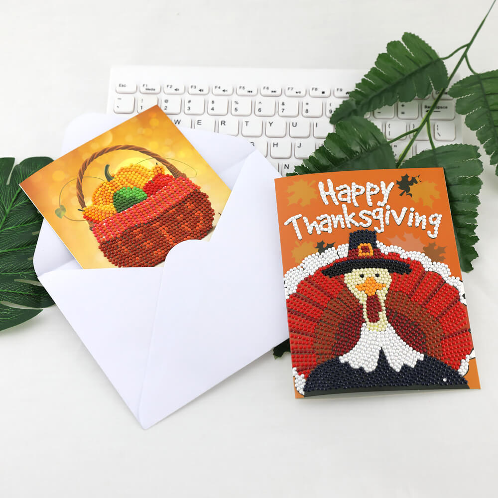 Thanksgiving Diamond Painting Set de cartes de vœux