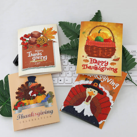 Afbeelding van Thanksgiving Diamond Painting Greeting Card Set
