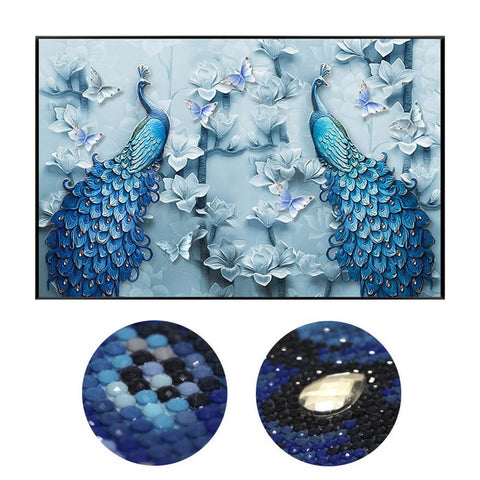 Diamond Painting - Peacock Lovers - Floating Styles - Diamond Embroidery - Diamond로 페인트하기