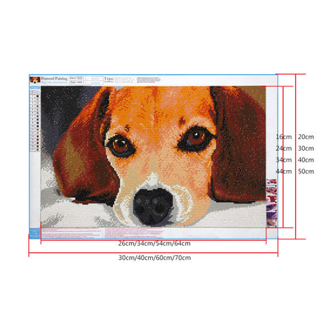 Image of Diamond Painting - Steely-Eyed Dog - Floating Styles - Diamond Embroidery - Paint With Diamond