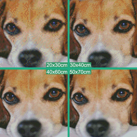 Diamond Painting - Steely-Eyed Dog - Floating Styles - Diamond Embroidery - Diamond로 페인트하기