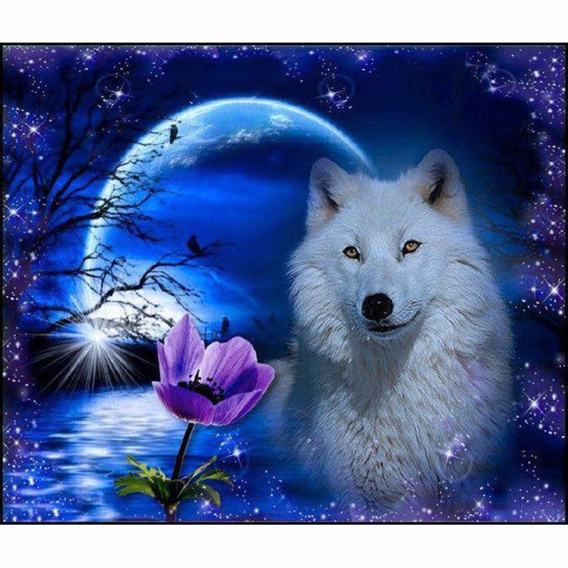 Diamond Painting - Mysterious Wolf - Floating Styles - Diamond Embroidery - Paint With Diamond