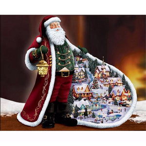 Diamond Painting - Santa Claus - Floating Styles - Diamond Embroidery - Paint With Diamond