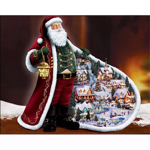 Afbeelding van Diamond Painting - Santa Claus - Drijvende stijlen - Diamond Embroidery - Paint With Diamond