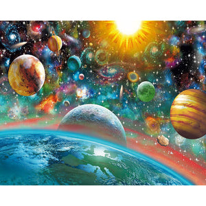 Diamond Painting - Fantasy Space - Drijvende stijlen - Diamond Embroidery - Paint With Diamond