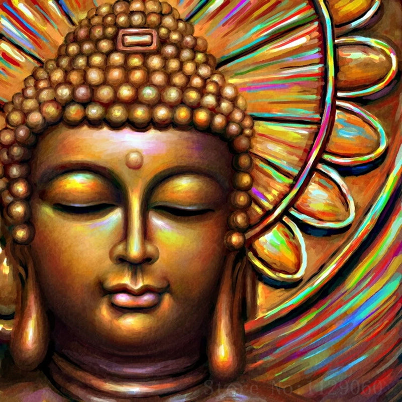 Diamond Painting - Buddha - Floating Styles - Diamond Embroidery - Paint With Diamond