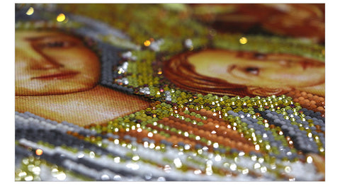Bild av Diamond Painting - Virgin och Child (Partial Pasting Area) - Flytande stilar - Diamond Broderi - Måla med Diamond