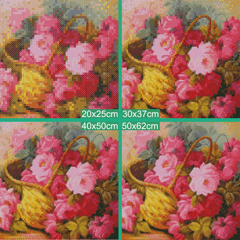 Diamond Painting - A Basket of Flower - Drijvende stijlen - Diamond Embroidery - Paint With Diamond